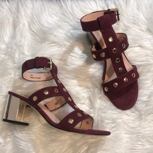 Kate Spade Maroon open toe sandals
